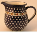 Boleslawiec Polish Pottery Large Pitcher - Design 41A