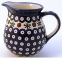 Boleslawiec Polish Pottery Small Pitcher - Design 41A