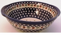 Boleslawiec Polish Pottery Berry Bowl & Strainer - Design 41A