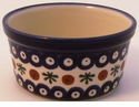 Boleslawiec Polish Pottery Large Ramekin - Design 41A