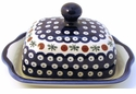 Boleslawiec Polish Pottery Covered Butter Dish - Design 41A