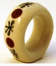 Boleslawiec Polish Pottery Napkin Ring - Design 41A