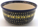 Boleslawiec Polish Pottery Kitchen Mixing Bowl - Design 175A