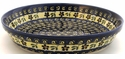 Boleslawiec Polish Pottery Pie Plate - Design 175A