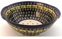 Boleslawiec Polish Pottery Berry Bowl & Strainer - Design 175A