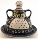 Boleslawiec Polish Pottery Butter Lady Butter Dish - Design 175A