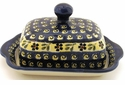 Boleslawiec Polish Pottery Covered Butter Dish - Design 175A