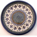 "Boleslawiec Polish Pottery 9 1/2"" Luncheon Plate - Design DU60"