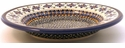Boleslawiec Polish Pottery Rimmed Soup Bowl - Design DU60