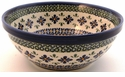Boleslawiec Polish Pottery Medium Serving Bowl - Design DU60