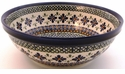 Boleslawiec Polish Pottery Large Serving Bowl - Design DU60