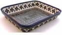 Boleslawiec Polish Pottery Small Rectangular Baker - Design DU60