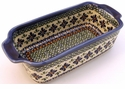 Boleslawiec Polish Pottery Loaf Pan - Design DU60