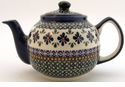 Boleslawiec Polish Pottery Large Teapot - Design DU60