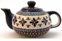 Boleslawiec Polish Pottery Small Teapot - Design DU60