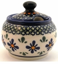 Boleslawiec Polish Pottery Sugar Bowl - Design DU60