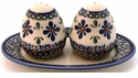 Boleslawiec Polish Pottery Salt & Pepper Set - Design DU60
