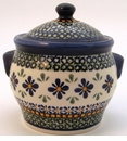 Boleslawiec Polish Pottery Small Canister - Design DU60