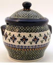 Boleslawiec Polish Pottery Medium Canister - Design DU60