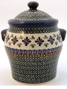 Boleslawiec Polish Pottery Large Canister - Design DU60