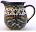 Boleslawiec Polish Pottery Large Pitcher - Design DU60