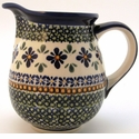 Boleslawiec Polish Pottery Medium Pitcher - Design DU60