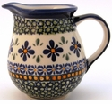 Boleslawiec Polish Pottery Small Pitcher - Design DU60