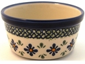 Boleslawiec Polish Pottery Large Ramekin - Design DU60