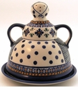 Boleslawiec Polish Pottery Cheese Lady Dish - Design DU60