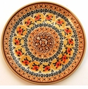 Boleslawiec Polish Pottery Salad or Dessert Plate - Design DU70