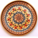 Boleslawiec Polish Pottery Bread & Butter Plate - Design DU70
