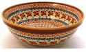 Boleslawiec Polish Pottery Large Serving Bowl - Design DU70