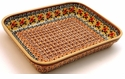Boleslawiec Polish Pottery Small Rectangular Baker - Design DU70