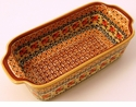 Boleslawiec Polish Pottery Loaf Pan - Design DU70