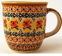 Boleslawiec Polish Pottery 12 oz Mug - Design DU70