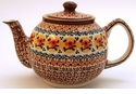 Boleslawiec Polish Pottery Large Teapot - Design DU70