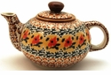 Boleslawiec Polish Pottery Small Teapot - Design DU70
