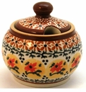 Boleslawiec Polish Pottery Sugar Bowl - Design DU70