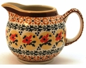 Boleslawiec Polish Pottery Creamer Pitcher - Design DU70