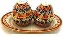Boleslawiec Polish Pottery Salt & Pepper Set - Design DU70