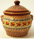 Boleslawiec Polish Pottery Medium Canister - Design DU70