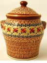 Boleslawiec Polish Pottery Large Canister - Design DU70