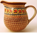 Boleslawiec Polish Pottery Large Pitcher - Design DU70