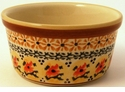 Boleslawiec Polish Pottery Large Ramekin - Design DU70