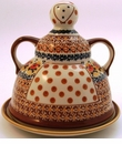 Boleslawiec Polish Pottery Cheese Lady Dish - Design DU70