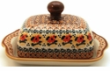 Boleslawiec Polish Pottery Covered Butter Dish - Design DU70