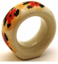 Boleslawiec Polish Pottery Napkin Ring - Design DU70