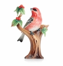 Franz Collection Pine Grosbeak Finch Small Vase