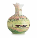 Franz Porcelain Realm of Dreams Summer Landscape Sculptured Porcelain Large Vase (Inspired By Camille Pissarro)