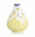 Franz Porcelain Collection Viola Tricolor Flower Design Sculptured Porcelain Small Vase